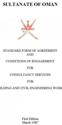 STANDARD FORM OF AGREEMENT AND CONDITIONS OF ENGAGEMENT FOR CONSULTANCY SERVICES FOR BUILDING AND CIVIL ENGINEERING WORKS
